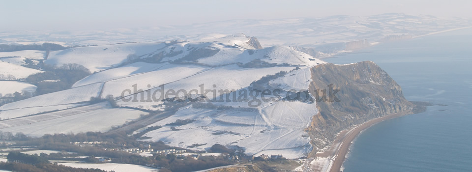 Thorncombe from Cap in snow