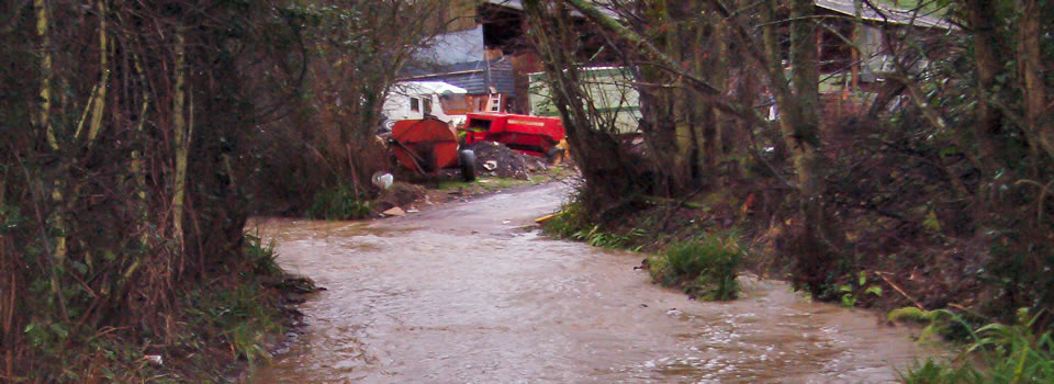 Hell Lane, North Chideock in Flood