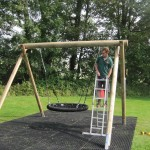 New Basket Swing is installed in Clapps Mead Play Area. September 2014