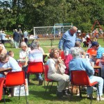 Enjoying Tea and Ice Creams at The Chideock Fete, 2014