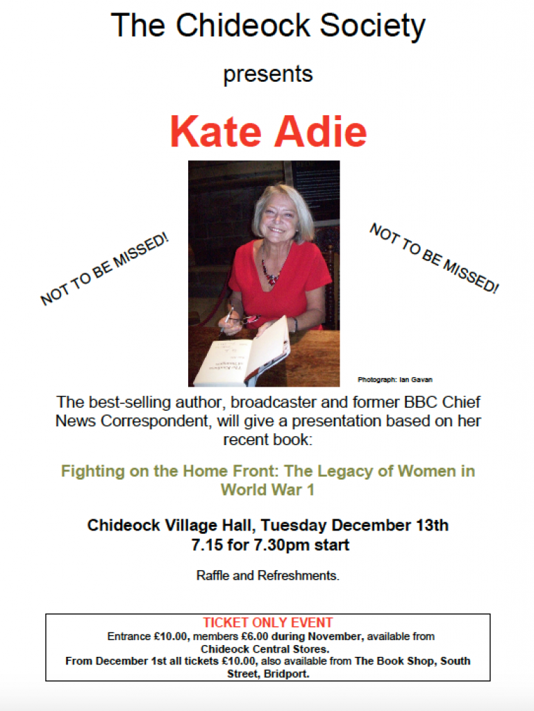 Kate Adie in Chideock