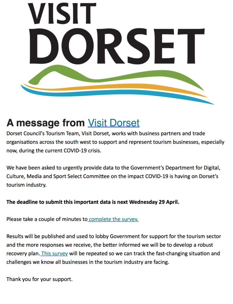 Visit Dorset Survey Holiday Accommodation